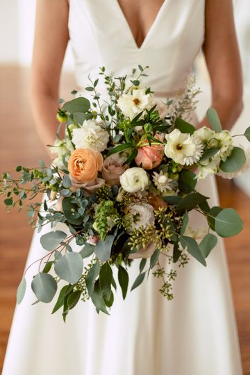Muted Bridal Bouquet