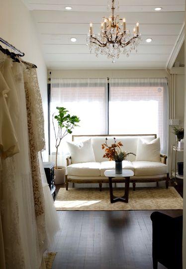 Stone bridal lounge