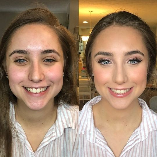 Prom makeup on this cutie!