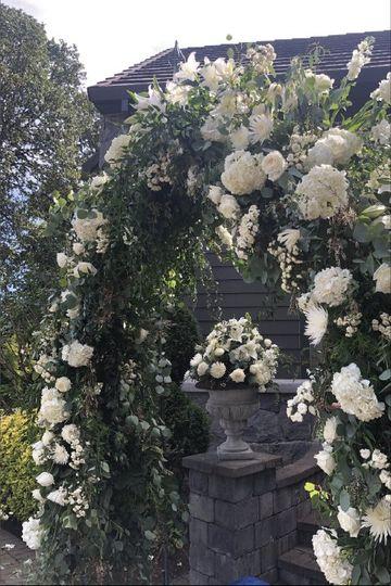 Gorgeous flowering arbor!