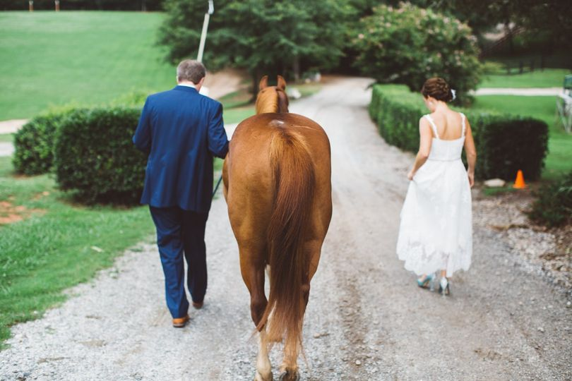 Wedding on a horse farm