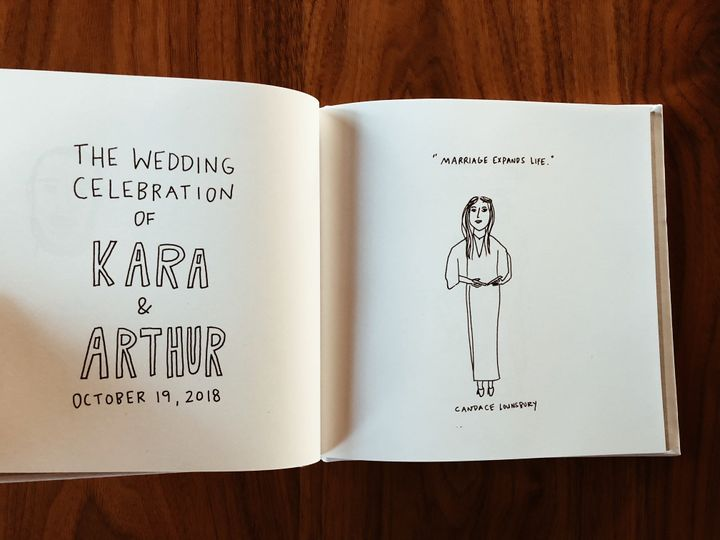 Illustrated guestbook