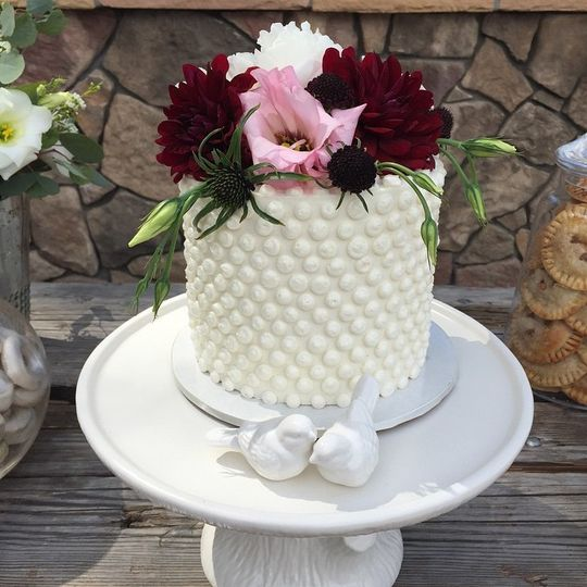 Dotted cake texture