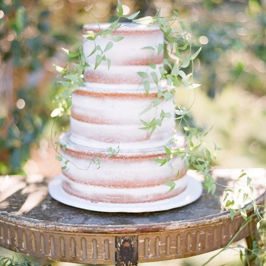 Naked cake with vines