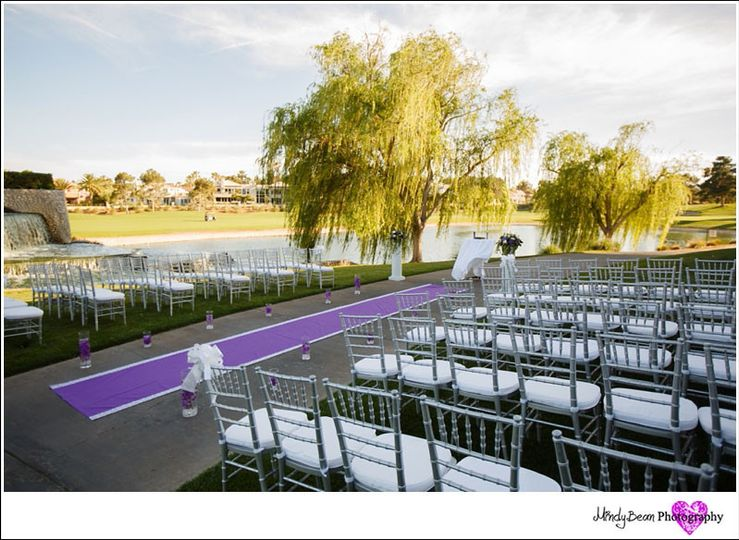 Outdoor wedding setting