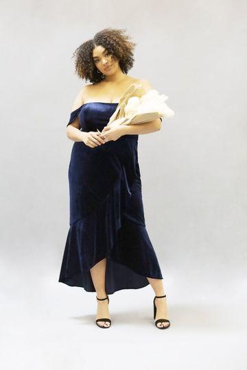 Lola Dress | Navy