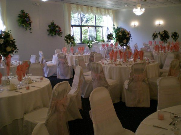 Pink Organza Chair Covers & Sashes