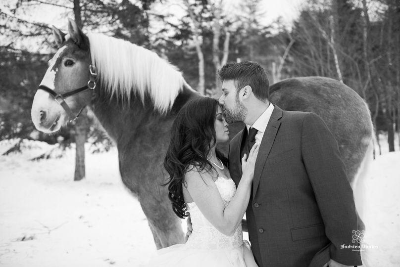 Nestlenook Farm Winter Wedding