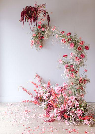 Floral installation by Zéla