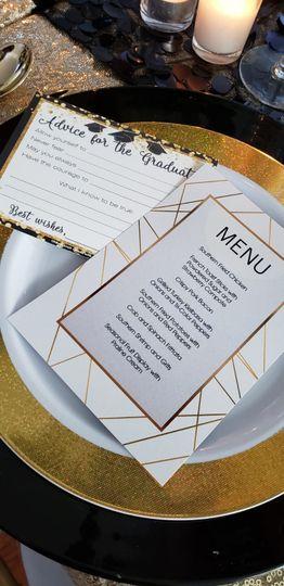 Digital print menu card