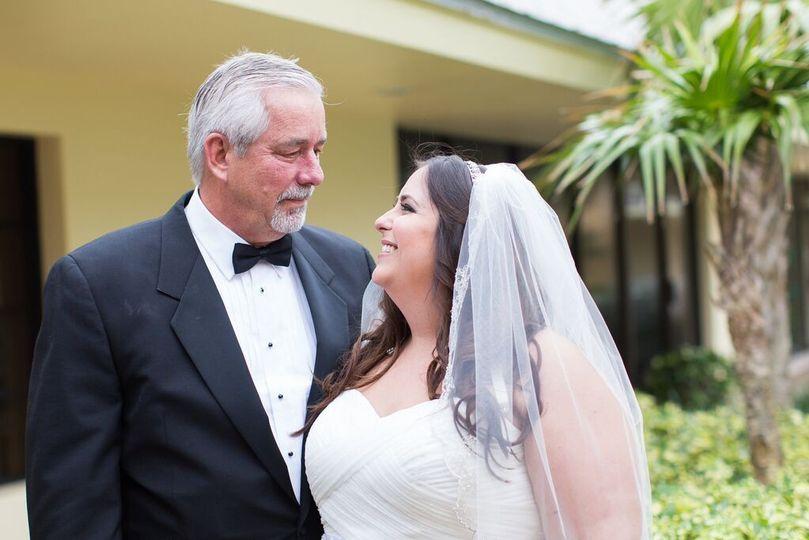 Bride and parent