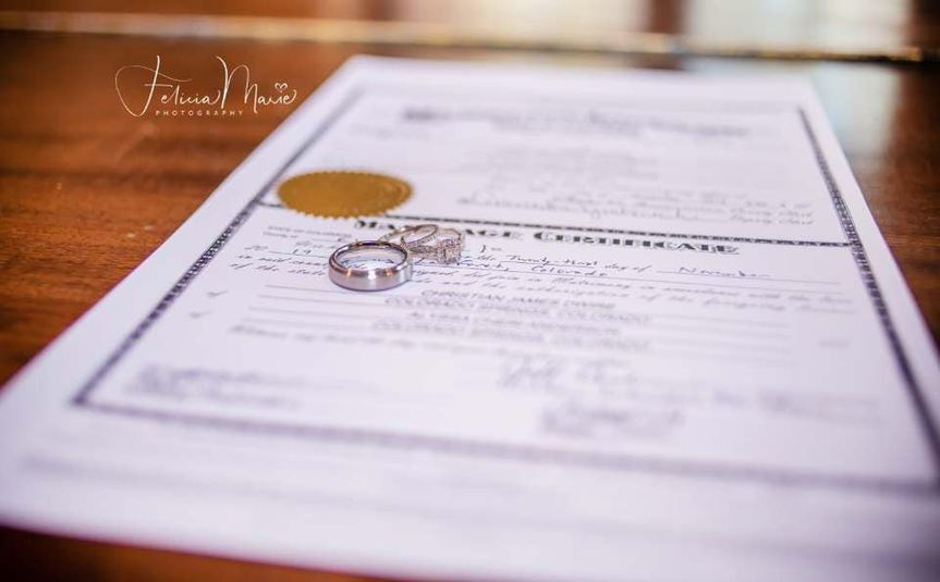 License and wedding bands - Felicia Marie Photography