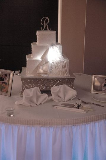 Pin spotted wedding cake