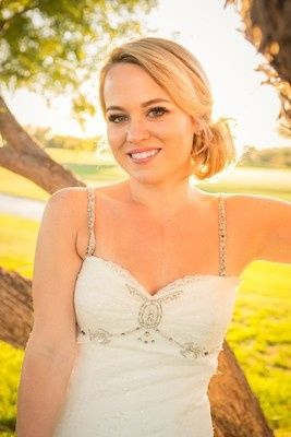 Sunlit Bride at Talking Stick Golf Course in Phoenix, AZ