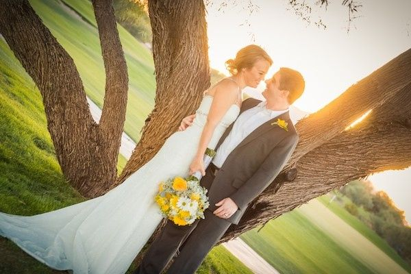 Sunset Couple at Talking Stick Golf Course in Phoenix, AZ