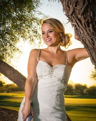 Happy Bride at Talking Stick Golf Course in Phoenix, AZ