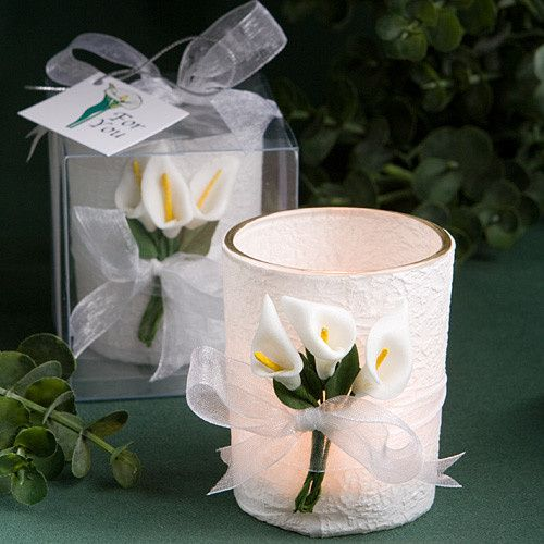 fashioncraft6100lg calla lily candle holder