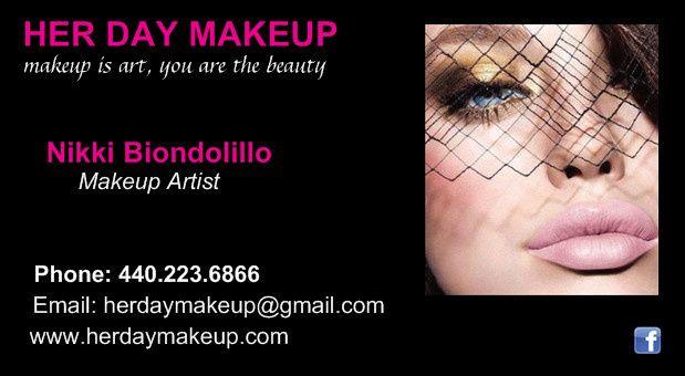 front of biz her day makeup