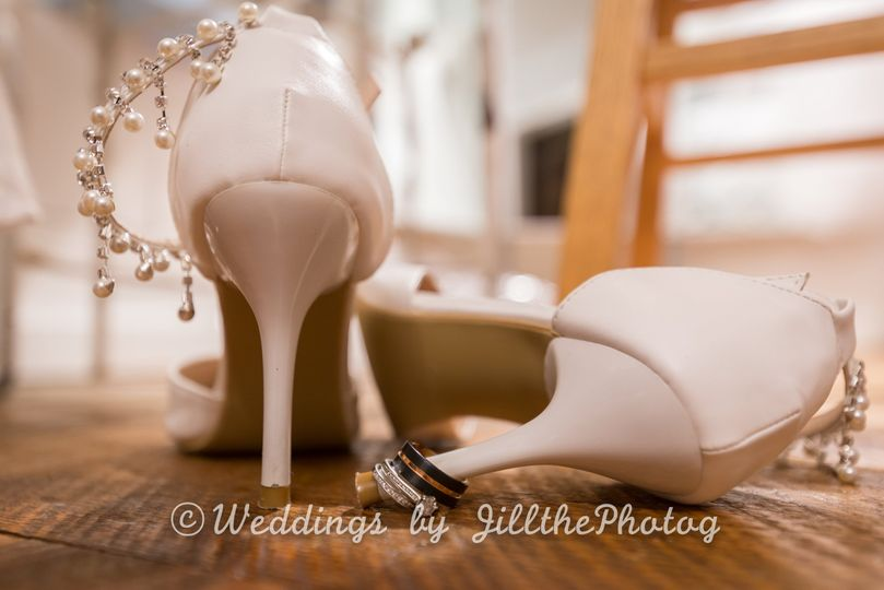 Details of shoes and rings!