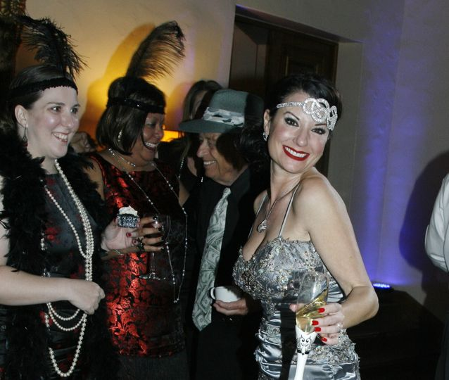 An Roarin' 20's first Dance on a Cloud at the Wrigley Mansion Club.