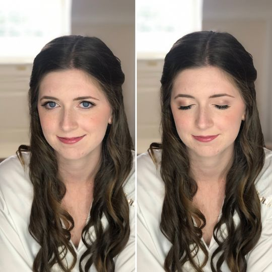 Soft and simple bridal makeup