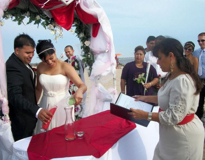 Beach ceremony.