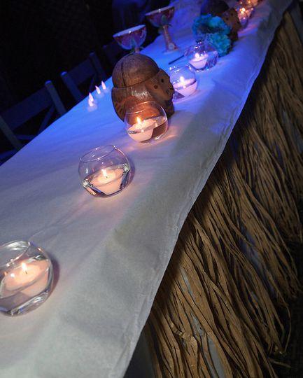 Hawaiian Theme Head Table. Credit: Rob Hurth Photography