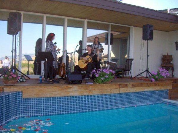 Pulama (Paula kauapalauki Rudman and Jim Romano) with friend Pili, at Cambria and Jon`s wedding -...