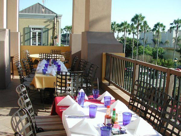 The Mambo Terrace offers a great view of Downtown Disney.