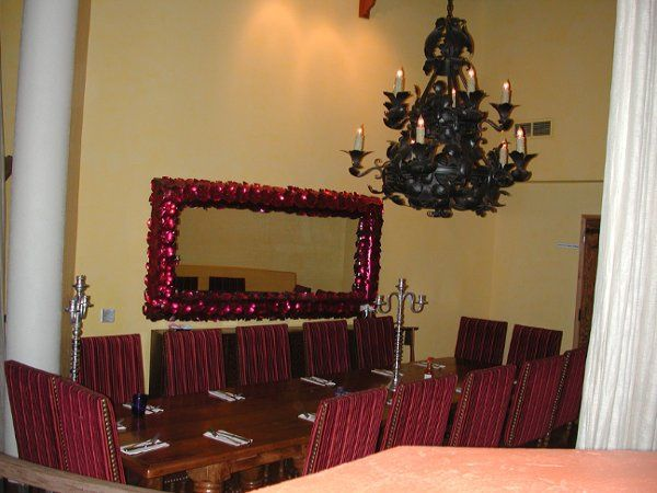 The Rhumba Room is a private area that can hold up to 16 guests.