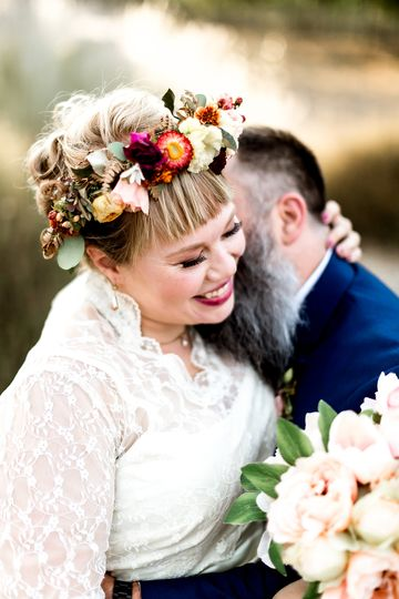 Boho wedding flower crown