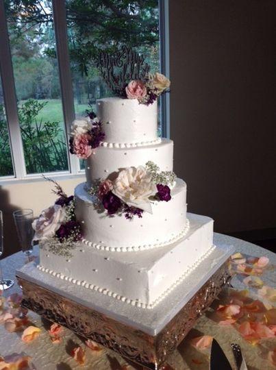 White floral cake
