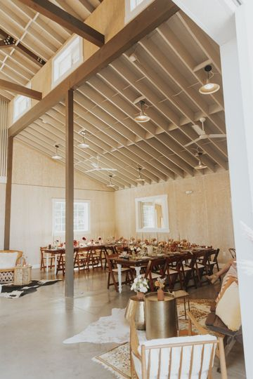 Harvest tables & chairs