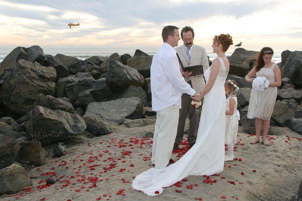 destination beach wedding, steve haslet wedding officiant, san diego wedding officiant, eloping,...