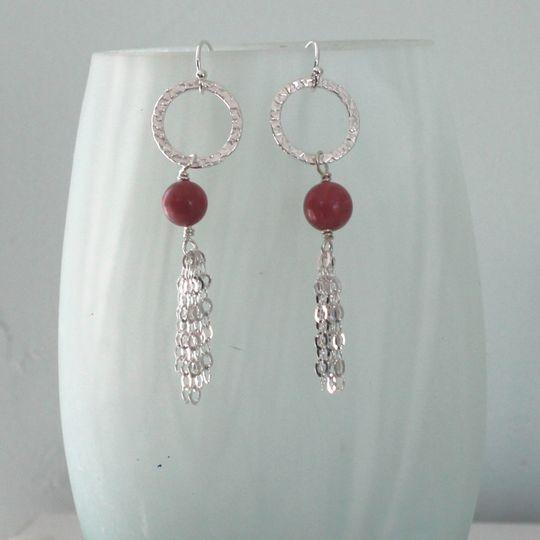Natural bead earrings