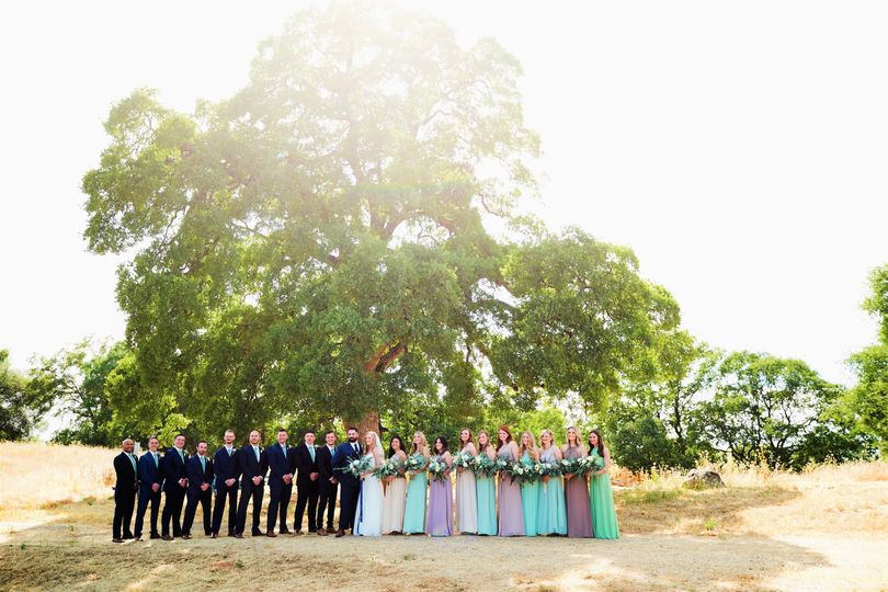 A large wedding party