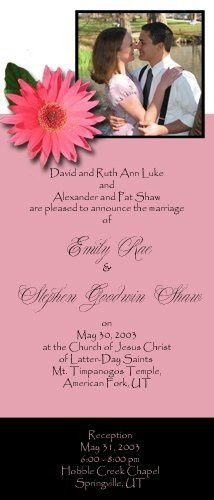 Have a favorite flower? We'll create your invitation using the flower as our inspiration. Change...