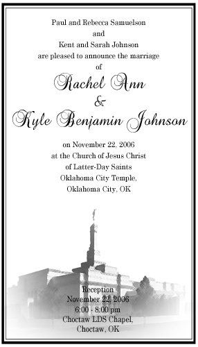 Temples are beautiful places where beautiful things happen. Why not make your invitations beautiful...