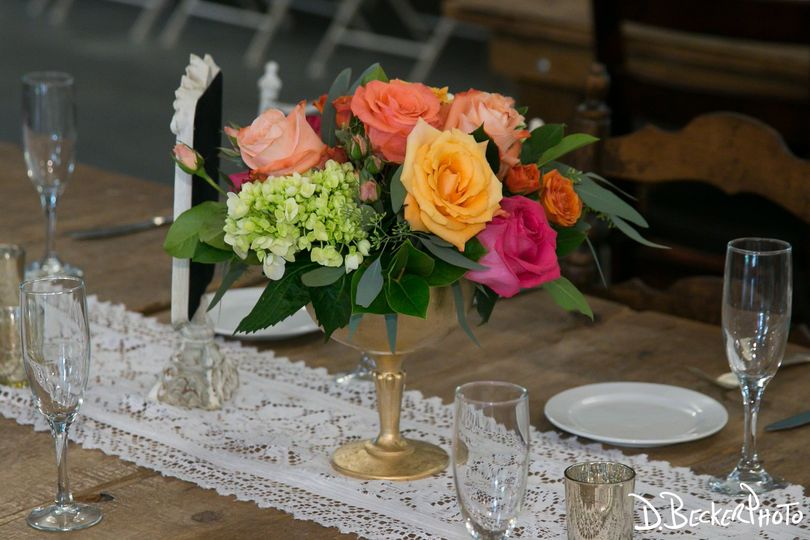 Low table centerpiece