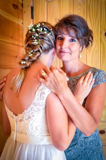 Tender Mom & Daughter Moment