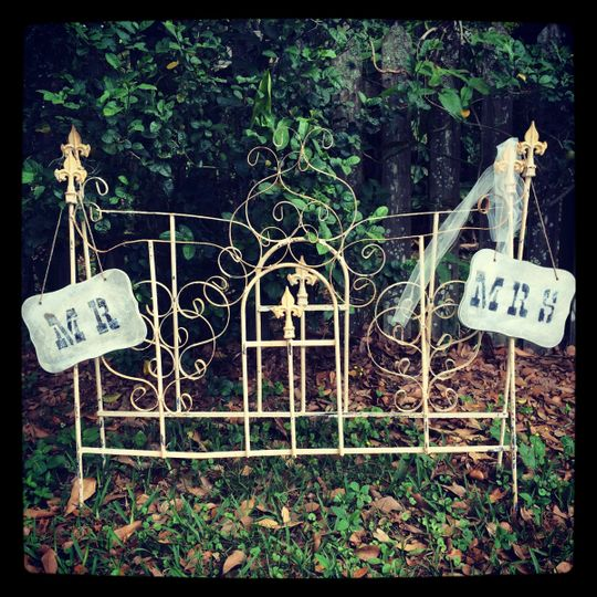 Wrought Iron Porch Gates. These are fabulous for a lovely Altar. Repurposed architectural salvage...