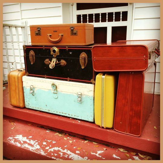 Vintage Luggage and Old Steamer Trunks make for fabulous table alternatives as well as wonderful...
