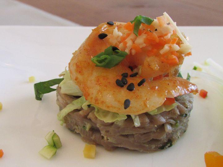 Tmx 1480626727409 12.1   Thai Shrimp Salad On A Soba Noodle Pancake White River Junction wedding catering