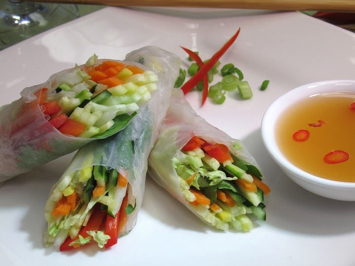 Tmx 1480626863079 Asian Vegetable Spring Roll With Sesame Ginger Sau White River Junction wedding catering