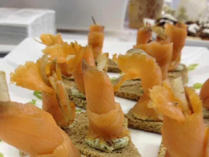 Tmx 1480704597606 Smoked Salmon Canape 1 White River Junction wedding catering