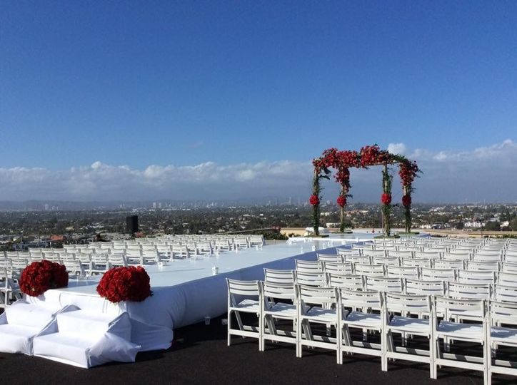 Helicopter pad ceremony