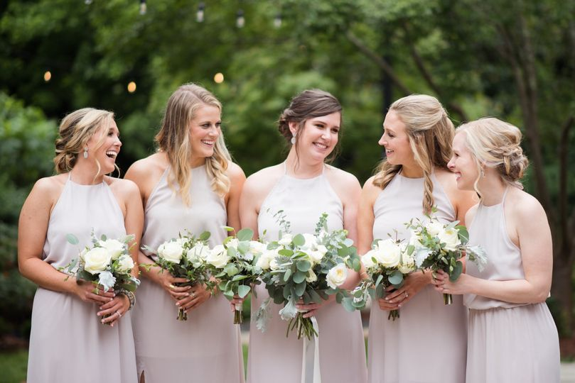 Giggly bridesmaids