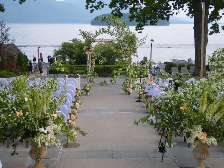 veranda terrace ceremony set