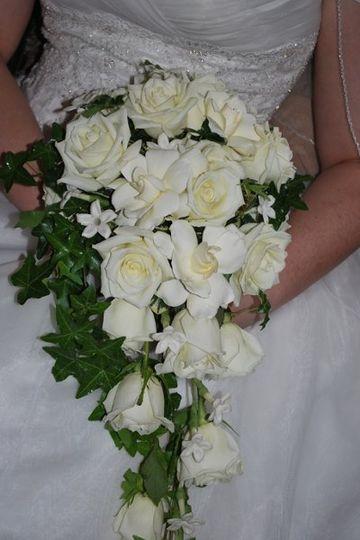 Fresh white wedding flowers