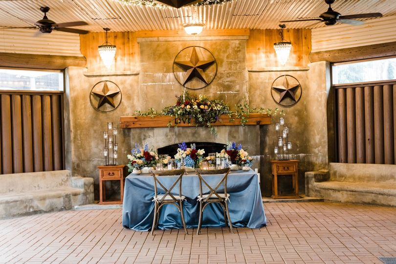 Reception Table Fireplace